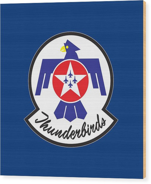 Thunderbirds Logo Wood Print