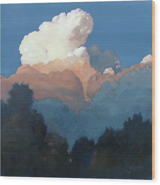 Thundercap Rising In Santa Fe Wood Print