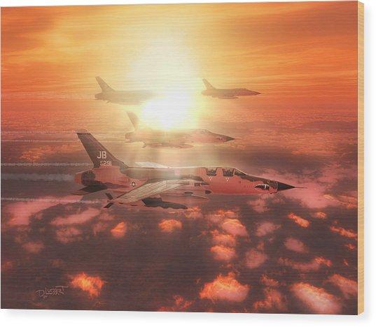 Thunderchief Dawn Wood Print