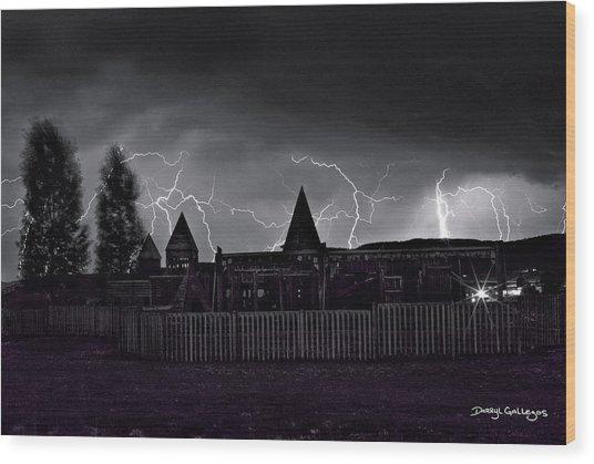 Thunderhead Wood Print by Darryl Gallegos
