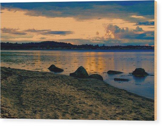 Thuro Beach Wood Print