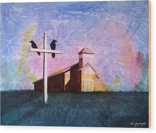 Thy God Has Lent Thee Wood Print by Sandy Applegate