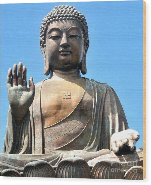 Tian Tan Buddha Wood Print