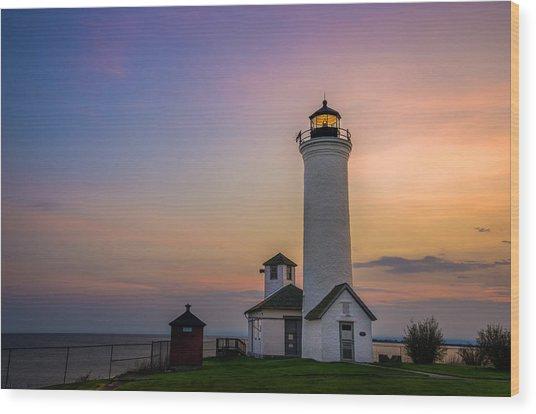 Tibbets Point Light Wood Print