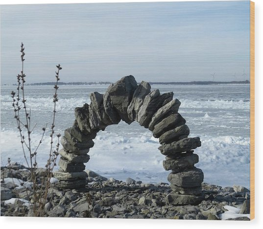Tibbetts Point Arch Wood Print