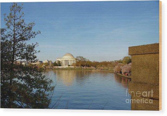Tidal Basin And Jefferson Memorial Wood Print