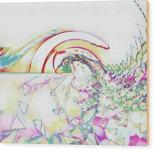 Tidal Wave Wood Print