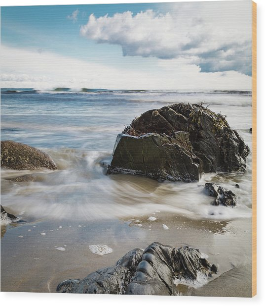 Tide Coming In #2 Wood Print