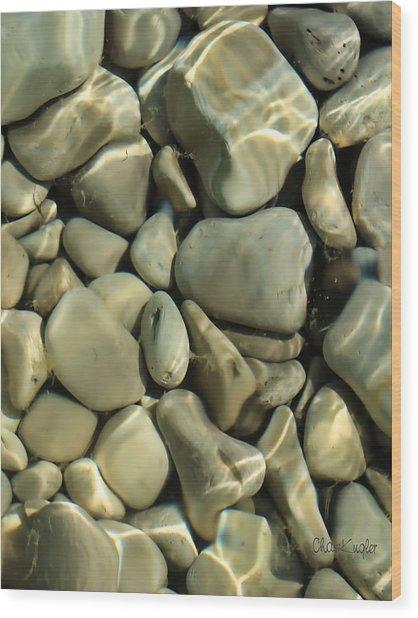 Tide Pool Wood Print by Chuck Kugler