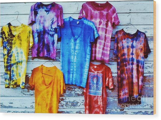 Grateful Dead Tie Dye Wood Print