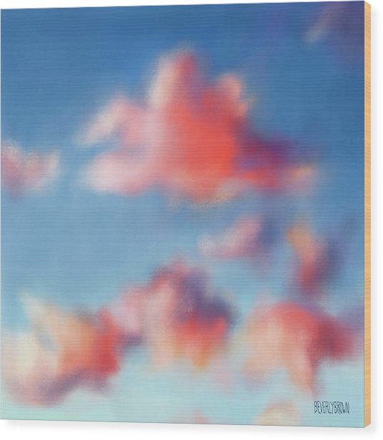 Tiepolo Clouds Wood Print