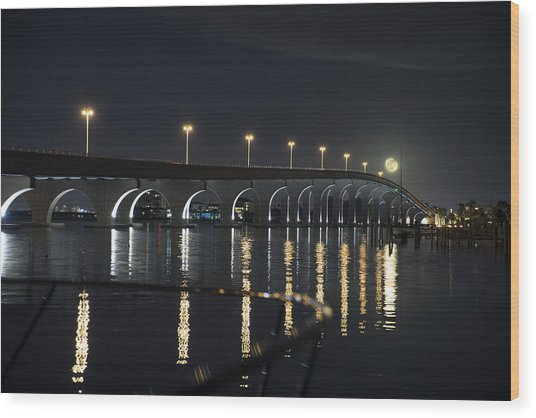 Tierra Verde Bridge Wood Print