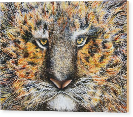 Tig The Tiger With An Attitude Wood Print by JoLyn Holladay