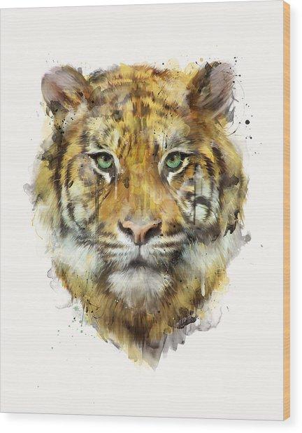 Tiger // Strength Wood Print