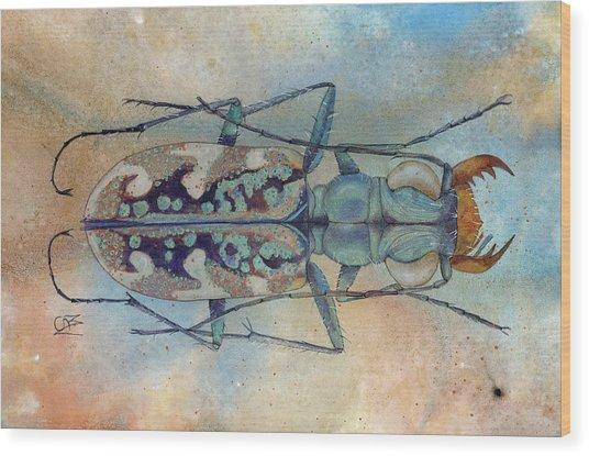 Tigerbeetlelandscape Wood Print