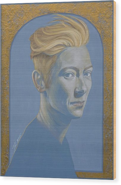 Tilda Swinton Wood Print