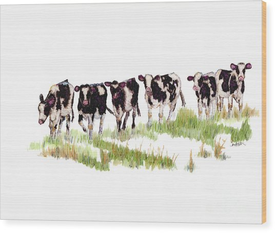 Till The Cows... Wood Print