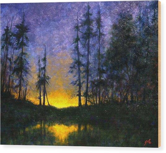 Timberline Wood Print by Jim Gola