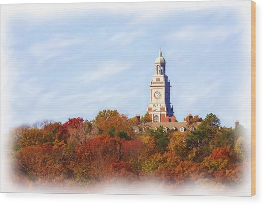 Time For Fall Wood Print by Jim  Darnall