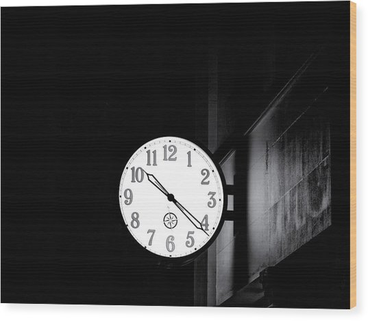 Time Is Slipping Away Wood Print