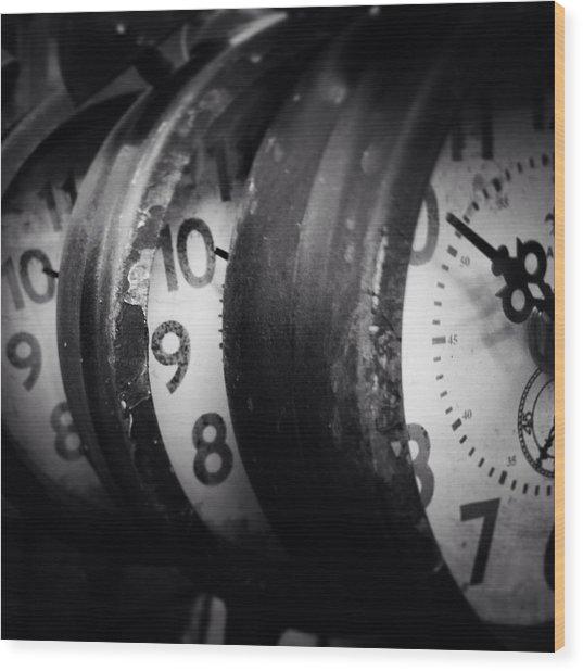 Time Multiplies Wood Print