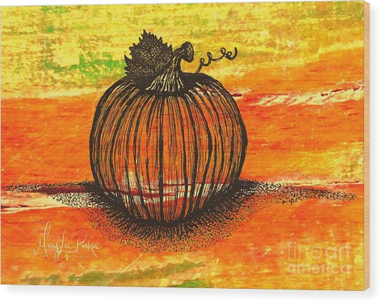 Time To Get Pumkin Wood Print