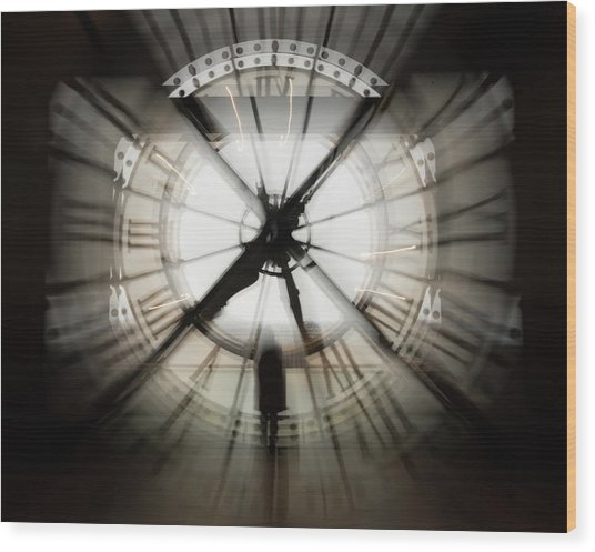 Time Waits For None Wood Print