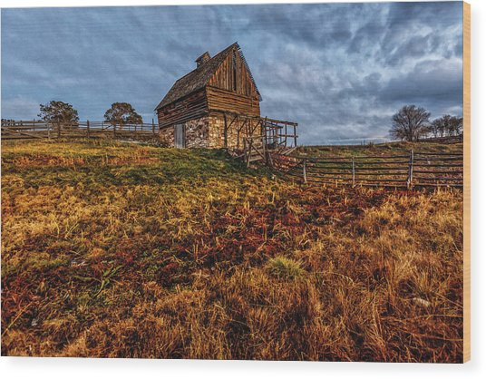 Timeless Rustic Barn  Wood Print