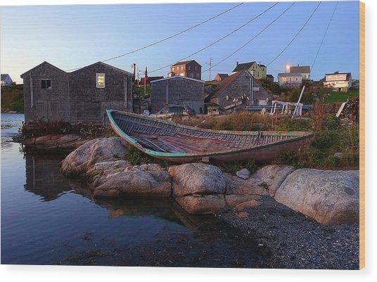 Peggy's Cove, Nova Scotia Wood Print