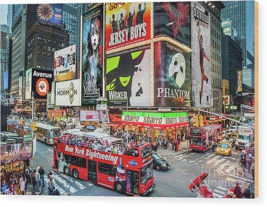 Times Square II Special Edition Wood Print