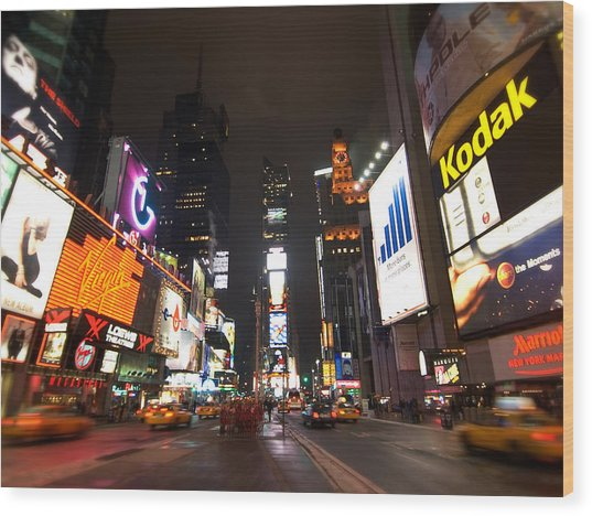 Times Square Wood Print by John Gusky
