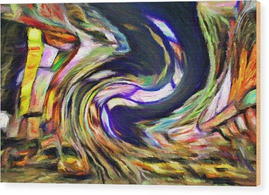 Times Square Swirl Wood Print