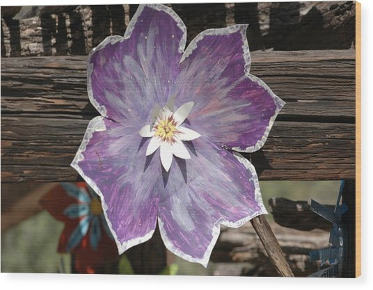 Tin Flower Wood Print