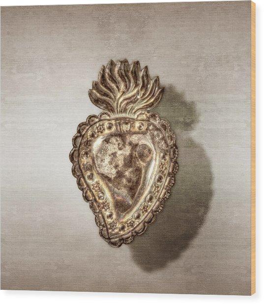 Tin Heart Wood Print