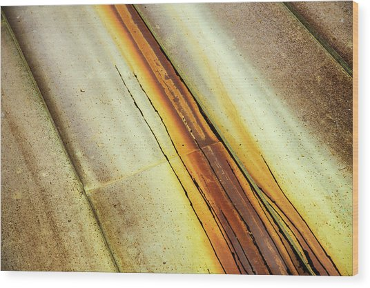 Tin Roof Abstract Wood Print