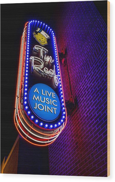 Tin Roof Beale Street Wood Print