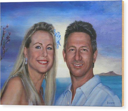 Tina And Tom Wood Print