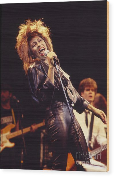 Tina Turner 1984 Wood Print by Chris Walter