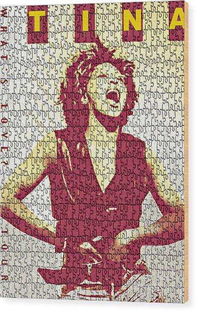 Tina Turner - Digital Graphic Poster Wood Print