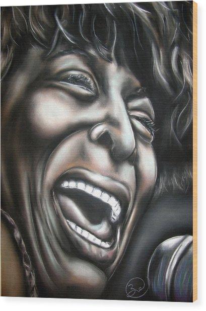 Tina Turner Wood Print by Zach Zwagil