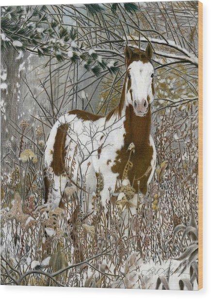 Tinman, Pastel Wood Print
