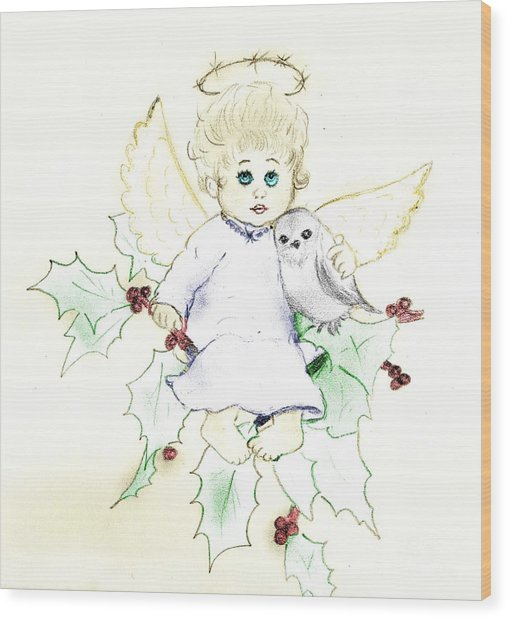Tinted Little Angel Wood Print