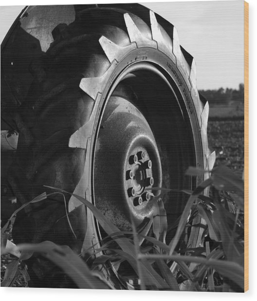 Tire Wood Print