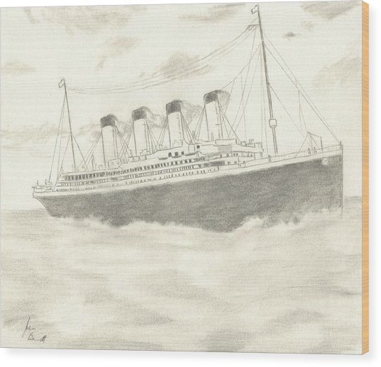 Titanic Wood Print by Josh Bennett