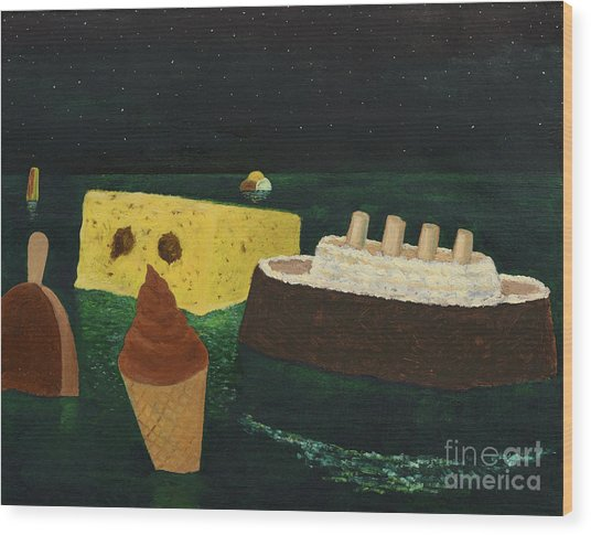 Titanic's Birthday Wood Print