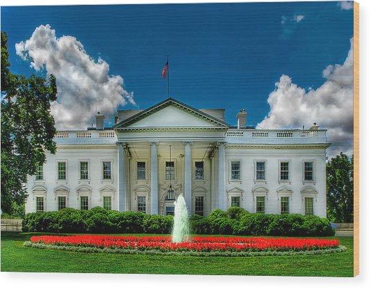 Tlhe White House Wood Print