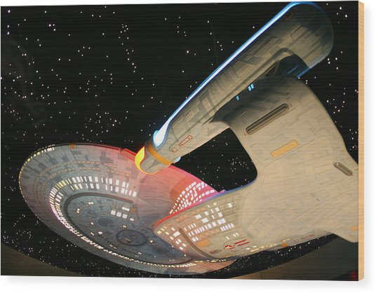 To Boldly Go Wood Print