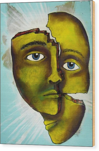 To Destroy The False Image Wood Print by Paulo Zerbato