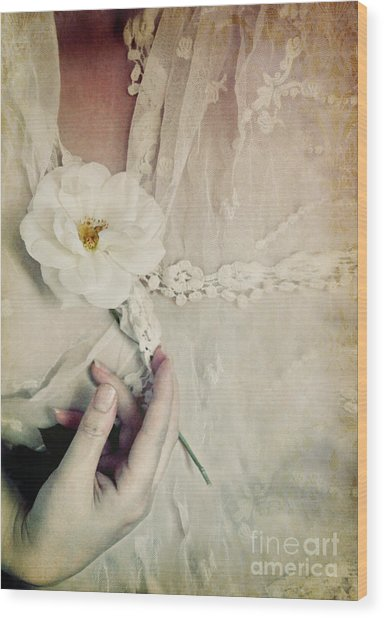 To Hold A Rose So Sweet Wood Print