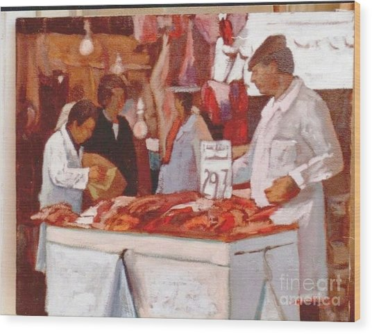 To The Butchers Wood Print by George Siaba